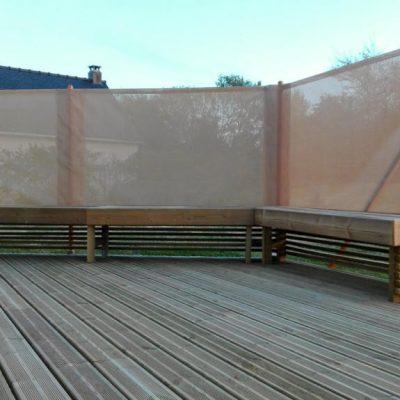 Brise vent, brise vue sur terrasse