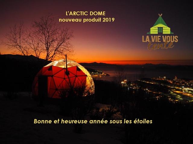 carte de voeux Arctic dome-2019